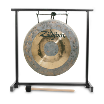 "12"" Traditional Gong and Table-Top Stand Set"