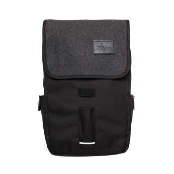 Zildjian Gray Flap Black Laptop Backpack